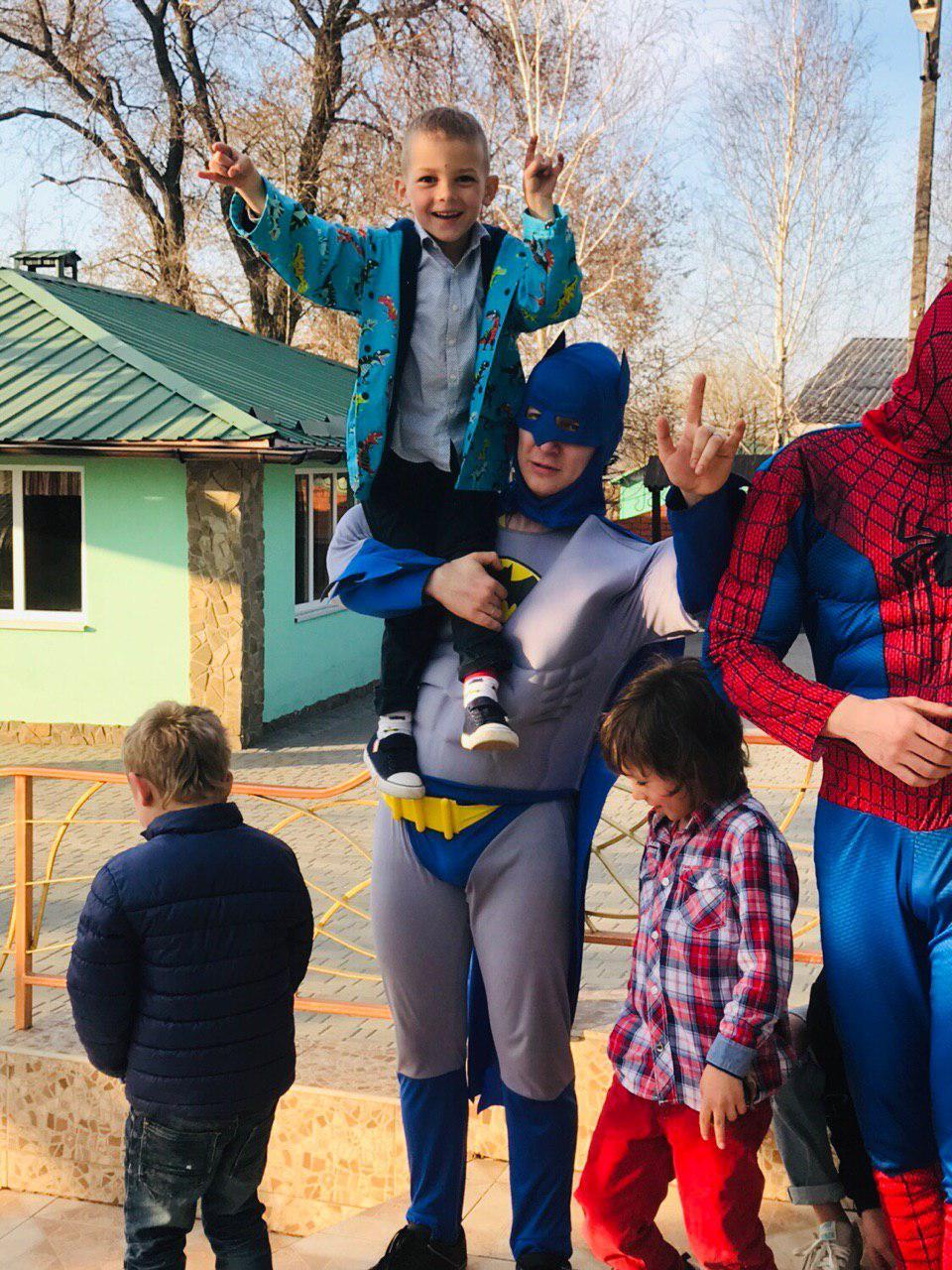 Бэтмен и Спайдермен 5 ивент агентство Птица Днепр