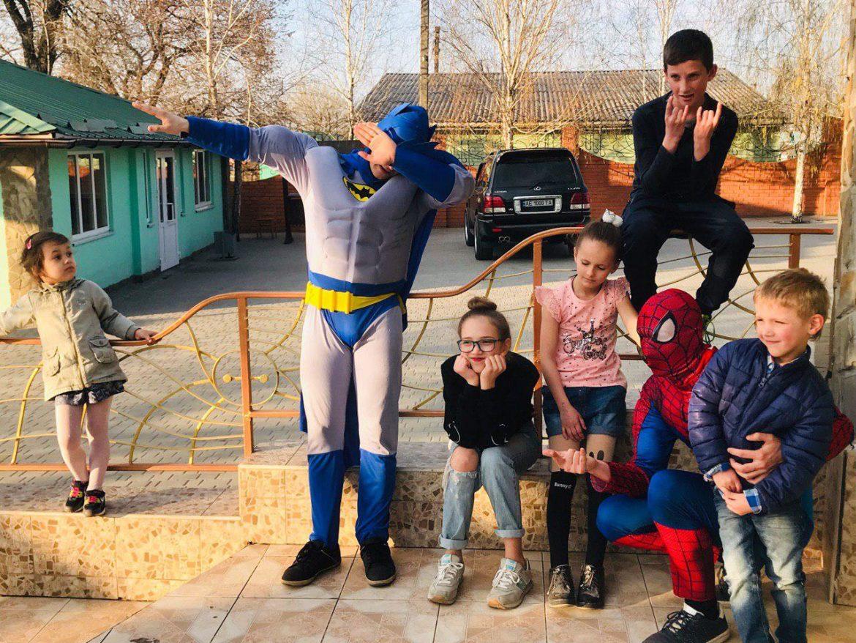 Бэтмен и Спайдермен 17 ивент агентство Птица Днепр