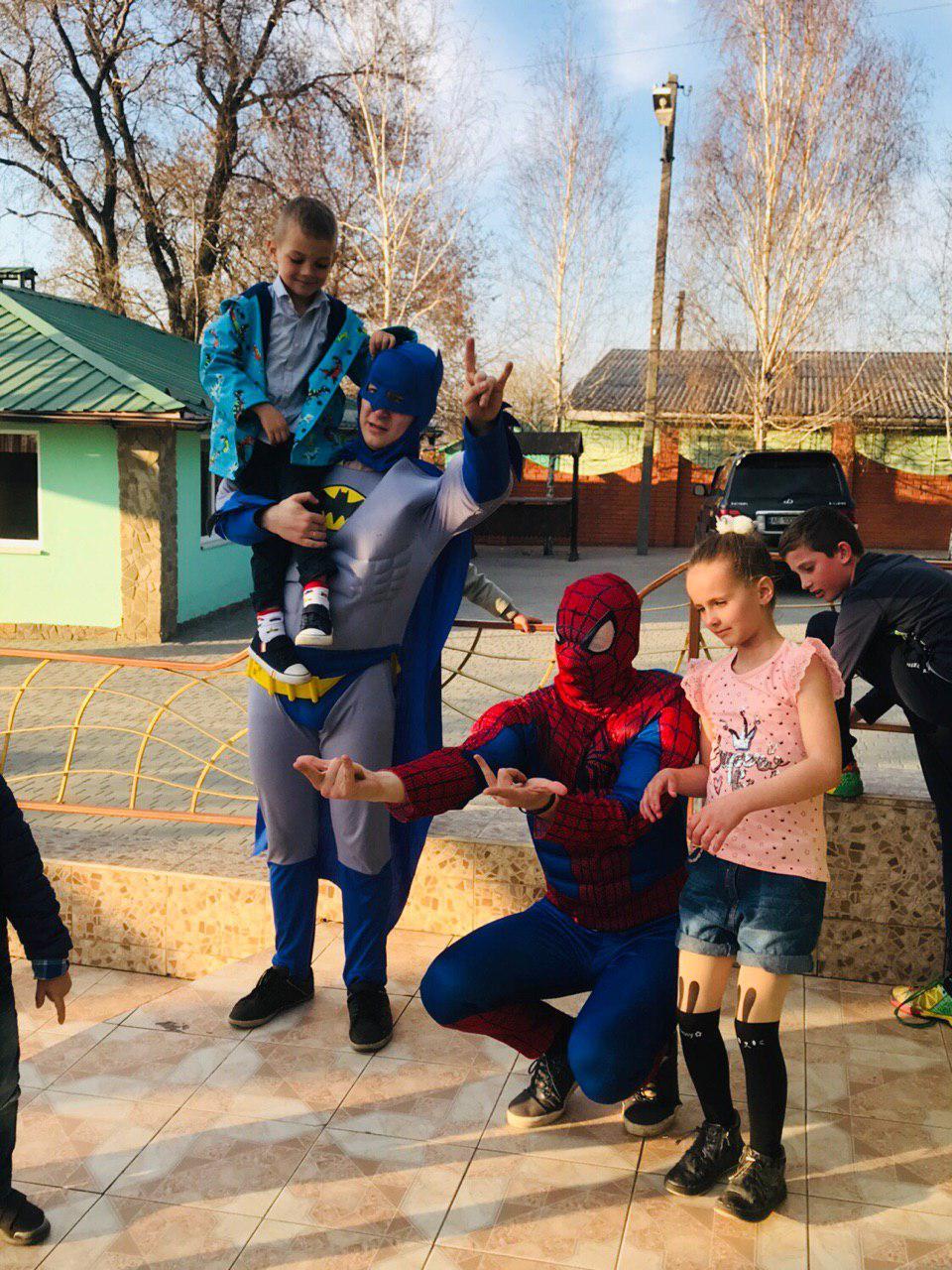Бэтмен и Спайдермен 7 ивент агентство Птица Днепр