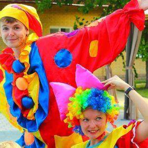 Весёлые клоуны 1 ивент агентство Птица Днепр